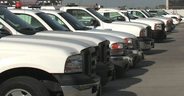 Fleet of diesel pickups